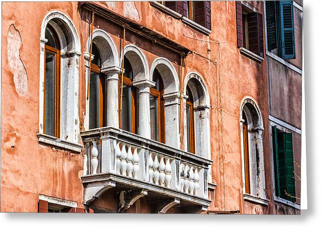 Venetian Houses In Italy Greeting Card