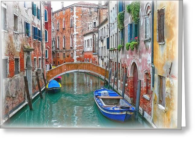 Greeting Card featuring the photograph Venetian Idyll by Hanny Heim