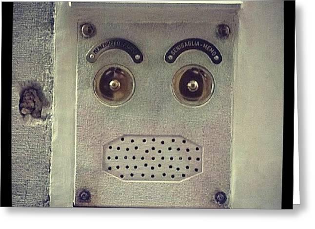 Venetian #intercom Looks Like A #face Greeting Card