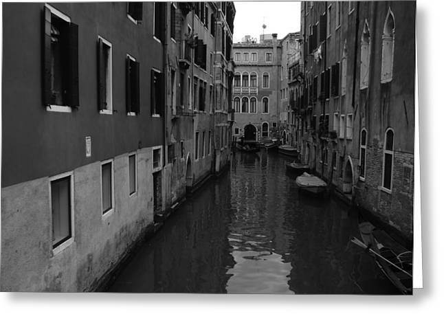 Greeting Card featuring the photograph Venetian Monochrome Bw by Walter Fahmy