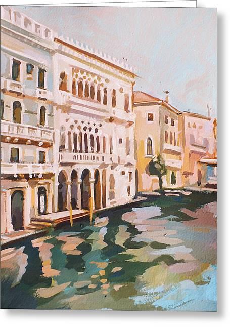 Venetian Palaces Greeting Card by Filip Mihail