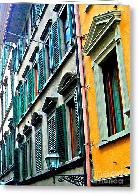 Venetian Shutters Greeting Card
