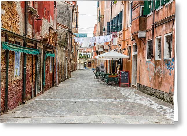 Venetian Street Greeting Card