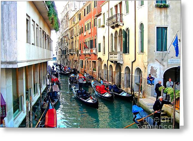 Venetian Traffic Jam Greeting Card