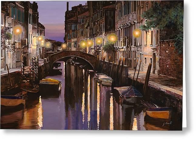 Venezia Al Crepuscolo Greeting Card
