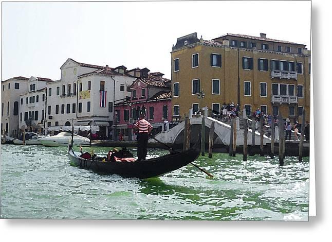 Venezia Gondola Canale Greeting Card by Irina Sztukowski