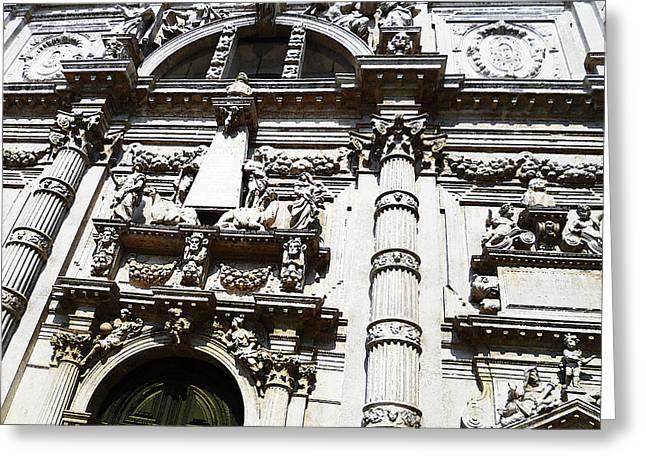 Venezia Italia Chiesa Di San Moise Greeting Card by Irina Sztukowski