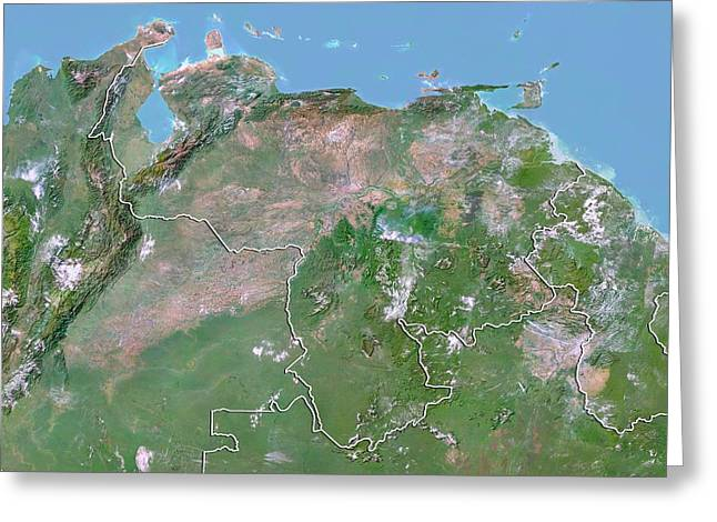 Venezuela Greeting Card by Planetobserver/science Photo Library