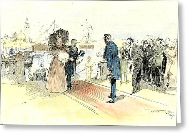 Venice 1897. Opening Of The Venice International Art Greeting Card