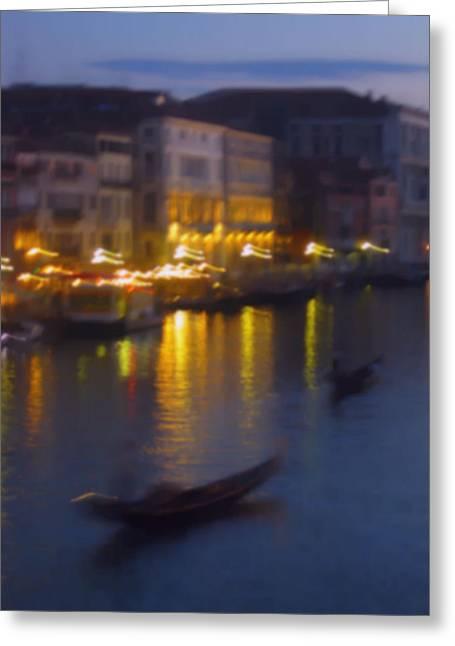 Venice Abstract Greeting Card by Betsy Moran