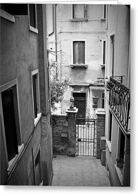 Venice Alley Greeting Card by Todd Hartzo