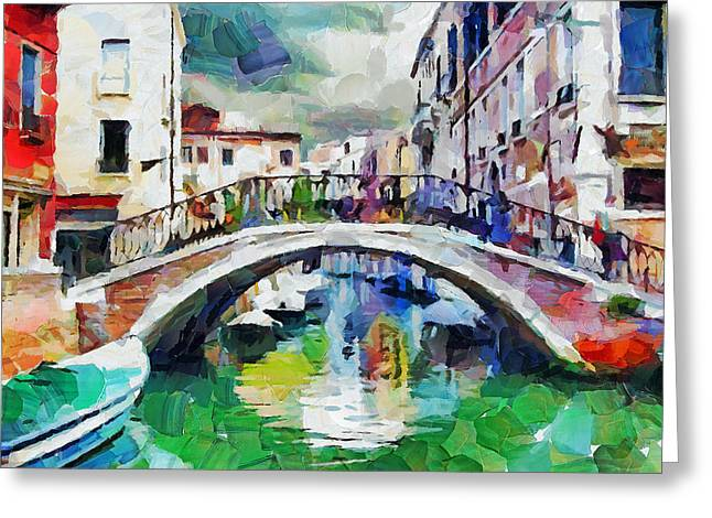 Venice Art Beauty 10 Greeting Card by Yury Malkov