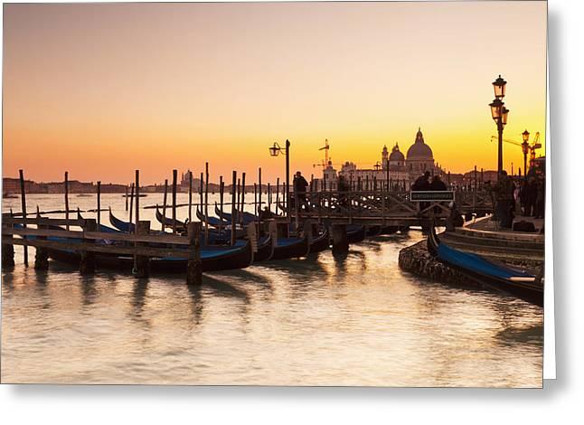 Venice At Dusk Venice, Italy Greeting Card by Kav Dadfar