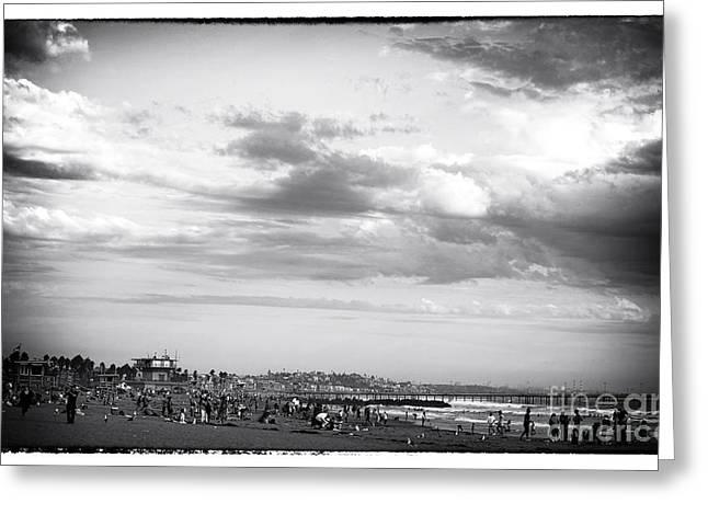 Venice Beach Noir Greeting Card by John Rizzuto