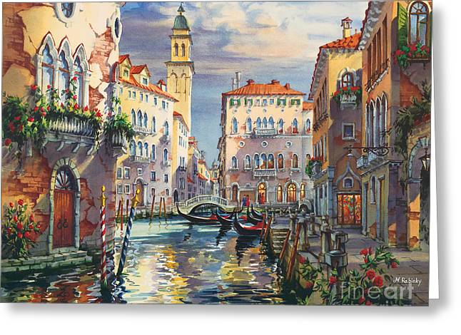 Venice Before Sunset Greeting Card