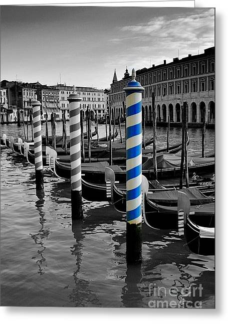 Venice Blue Greeting Card by Henry Kowalski