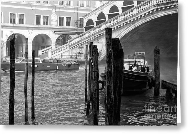 Venice Boats In The Morning Greeting Card