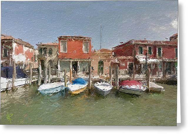 Venice Boats Greeting Card