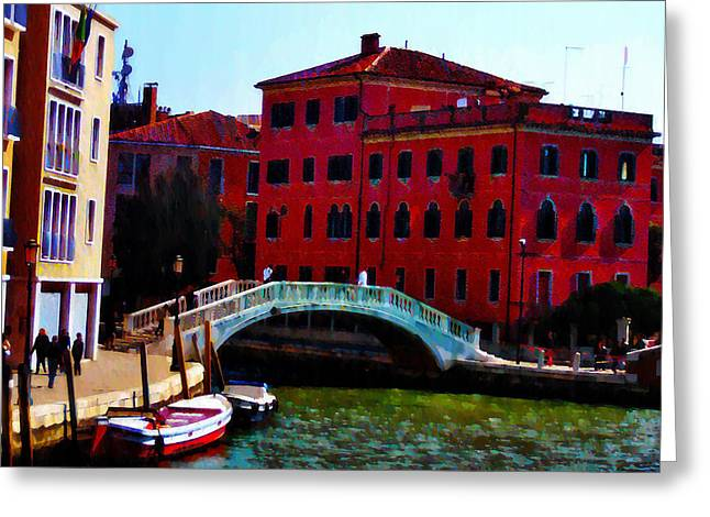 Venice Bow Bridge Greeting Card by Bill Cannon