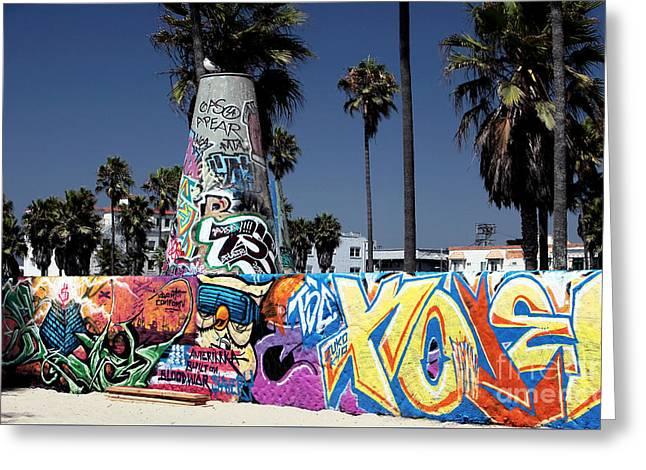 Venice Beach Graffiti Greeting Card