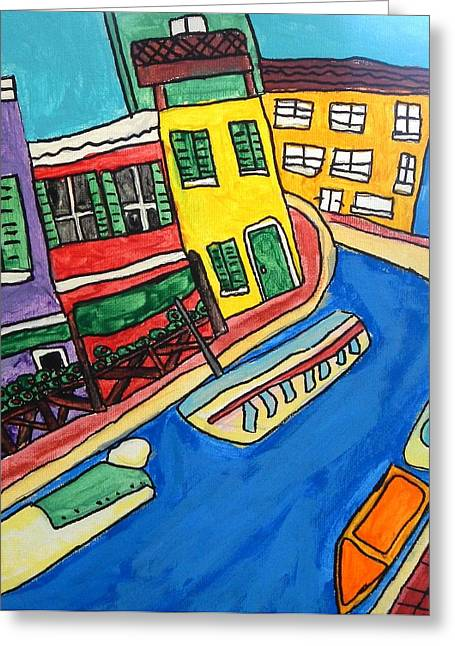 Venice Greeting Card by Artists With Autism Inc