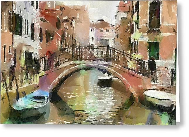 Venice Bridges 2 Greeting Card by Yury Malkov
