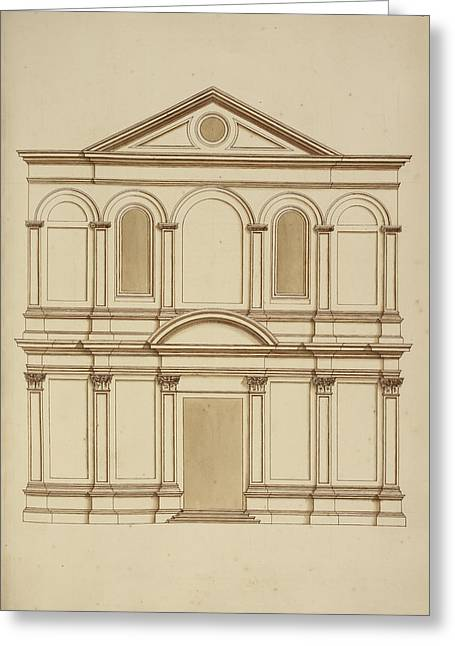 Venice Building Facade Greeting Card by British Library