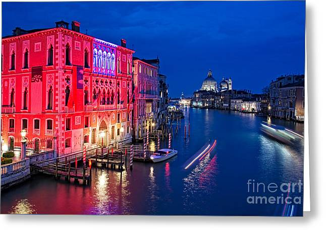 Venice By Night Greeting Card