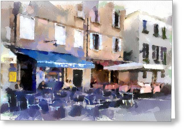 Venice Caffe Greeting Card