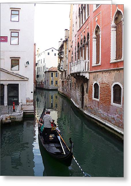Venice Canal   Greeting Card by Irina Sztukowski