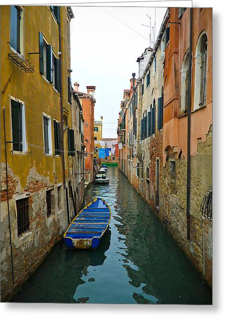 Venice Canal Greeting Card by Silvia Bruno