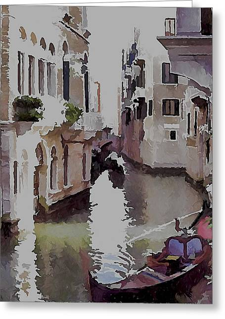 Venice Canal Today 3 Greeting Card by Yury Malkov