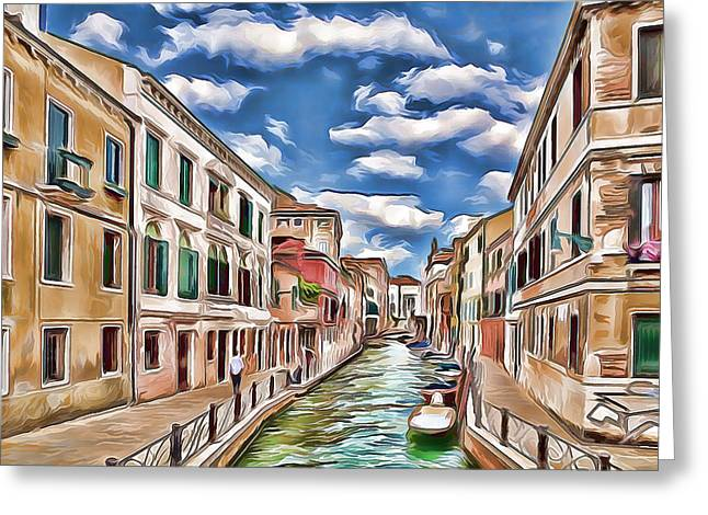 Venice Canal Today Greeting Card