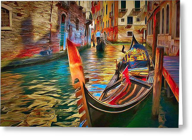 Venice Canals Beauty 4 Greeting Card by Yury Malkov