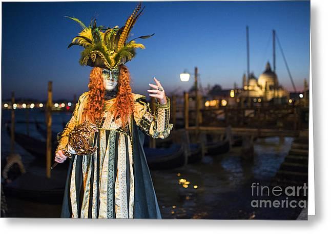 Venice Carnival '15 Vi Greeting Card by Yuri Santin