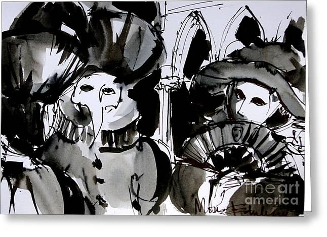 Venice Carnival 4 Greeting Card by Mona Edulesco