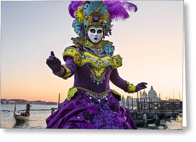 Venice Carnival Iv Greeting Card by Yuri Santin