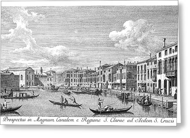 Venice Chiara Canal, 1735 Greeting Card by Granger