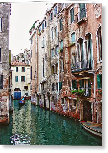 Venice City Of Water 2 Greeting Card by Julie Palencia