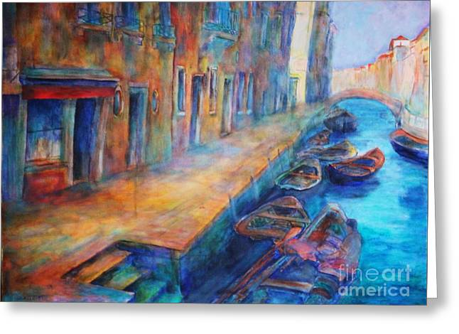 Venice Greeting Card by Dagmar Helbig