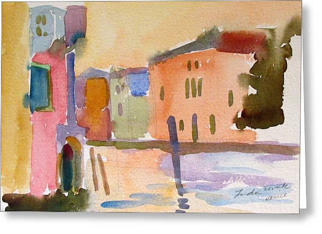 Venice Dawn Greeting Card