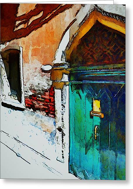 Venice Doors And Windows 1 Greeting Card