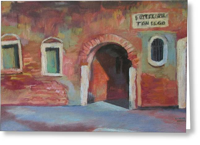 Venice Doorway Greeting Card