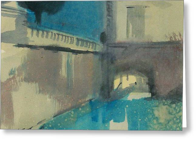 Greeting Card featuring the painting Venice  by Ed  Heaton