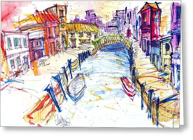 Venice Greeting Card by Edgar Rafael