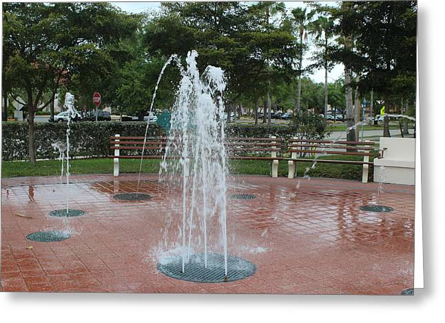 Venice Florida Fountain Greeting Card