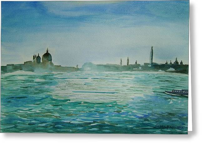 Venice Greeting Card by Geeta Biswas