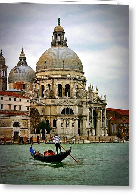 Venice Gondola Greeting Card by Henry Kowalski