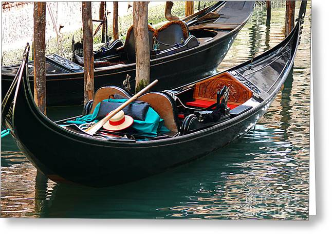 Greeting Card featuring the photograph Venice Gondola by Jeanne  Woods