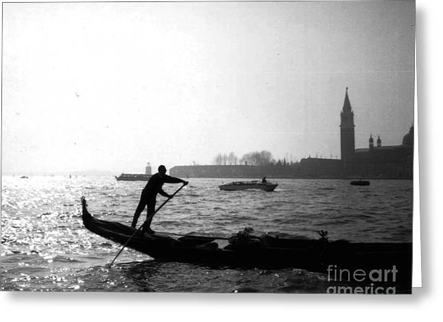 Venice Gondola Greeting Card by Rita Brown